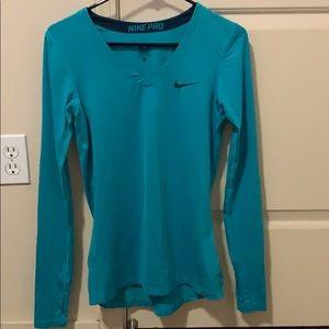 Nike Pro Long Sleeve V-Neck